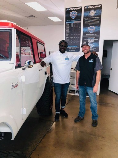 Customer Tommie Harris Visiting the Garage