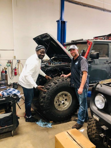 Tommie Harris Checking Out Our Custom Build